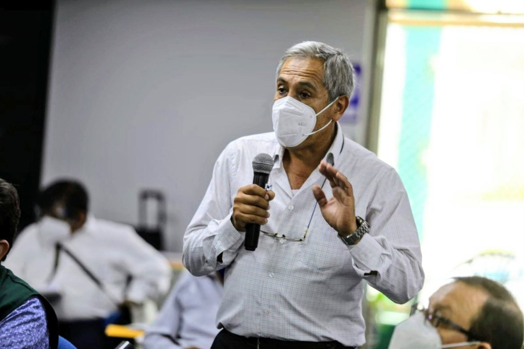 Representantes de las Juntas de Usuarios de los Sectores Hidráulicos de Riego del Perú, para evaluar las acciones que implementa el Ejecutivo ante el estrés hídrico en el norte del país. Foto: Midagri