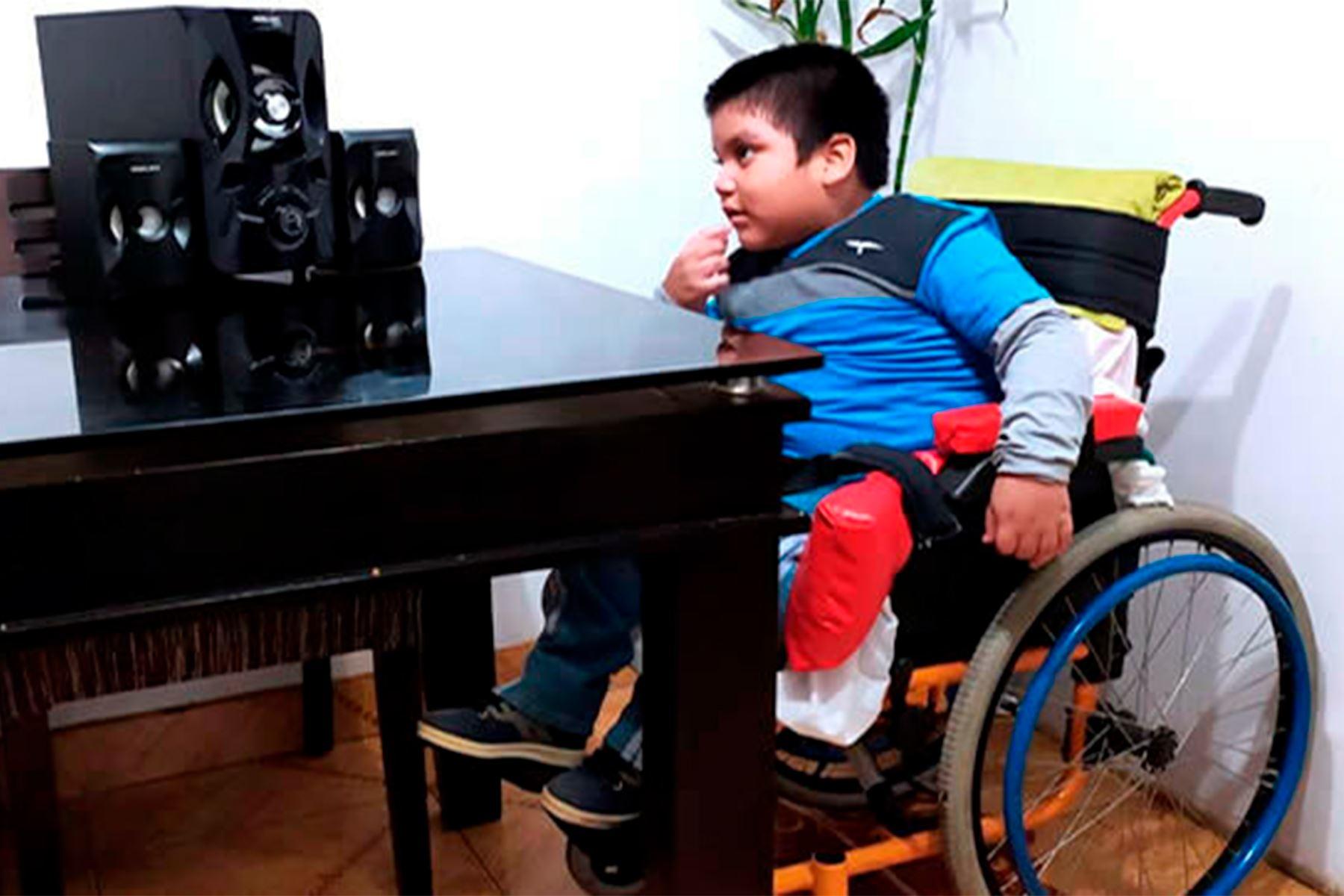 Programas de Aprendo en casa para estudiantes con discapacidad severa son un hito en la historia de la televisión peruana. Foto: ANDINA/Minedu