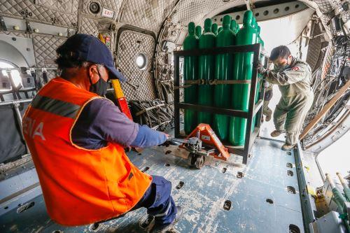 Minsa envía 98 balones de oxígeno medicinal para abastecer a los establecimientos de salud en Ica