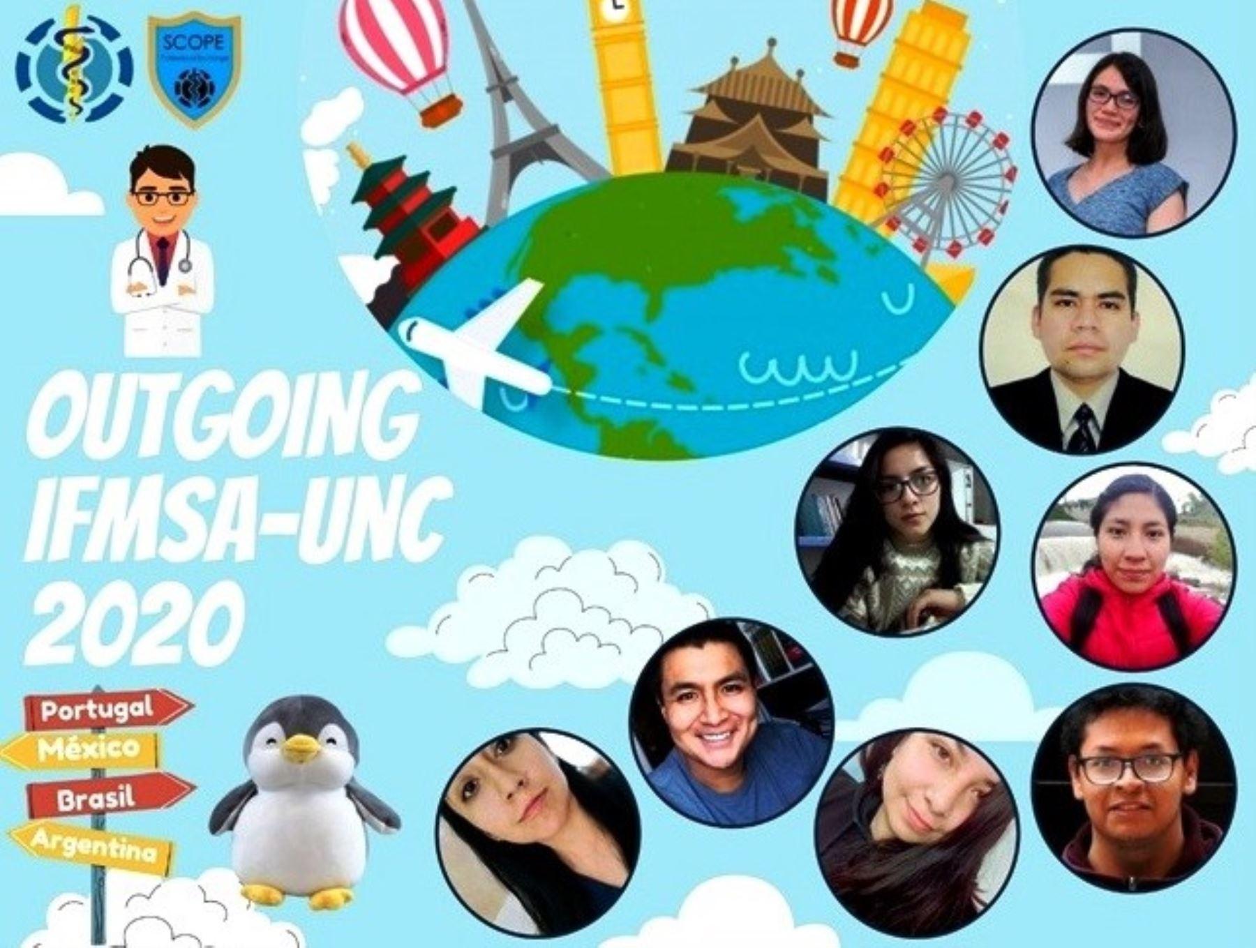 Estudiantes de la Facultad de Medicina Humana de la Universidad Nacional de Cajamarca realizarán una pasantías en diversos países.