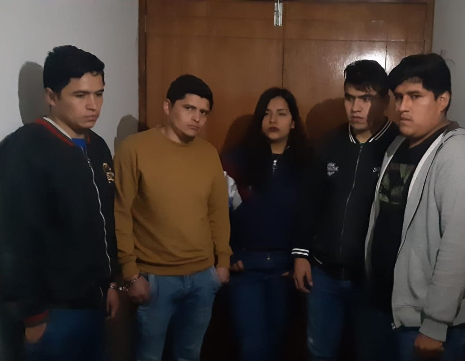 Policía Nacional detiene a 5 personas involucradas en trata de personas en la ciudad de Pataz, región La Libertad. ANDINA/Difusión