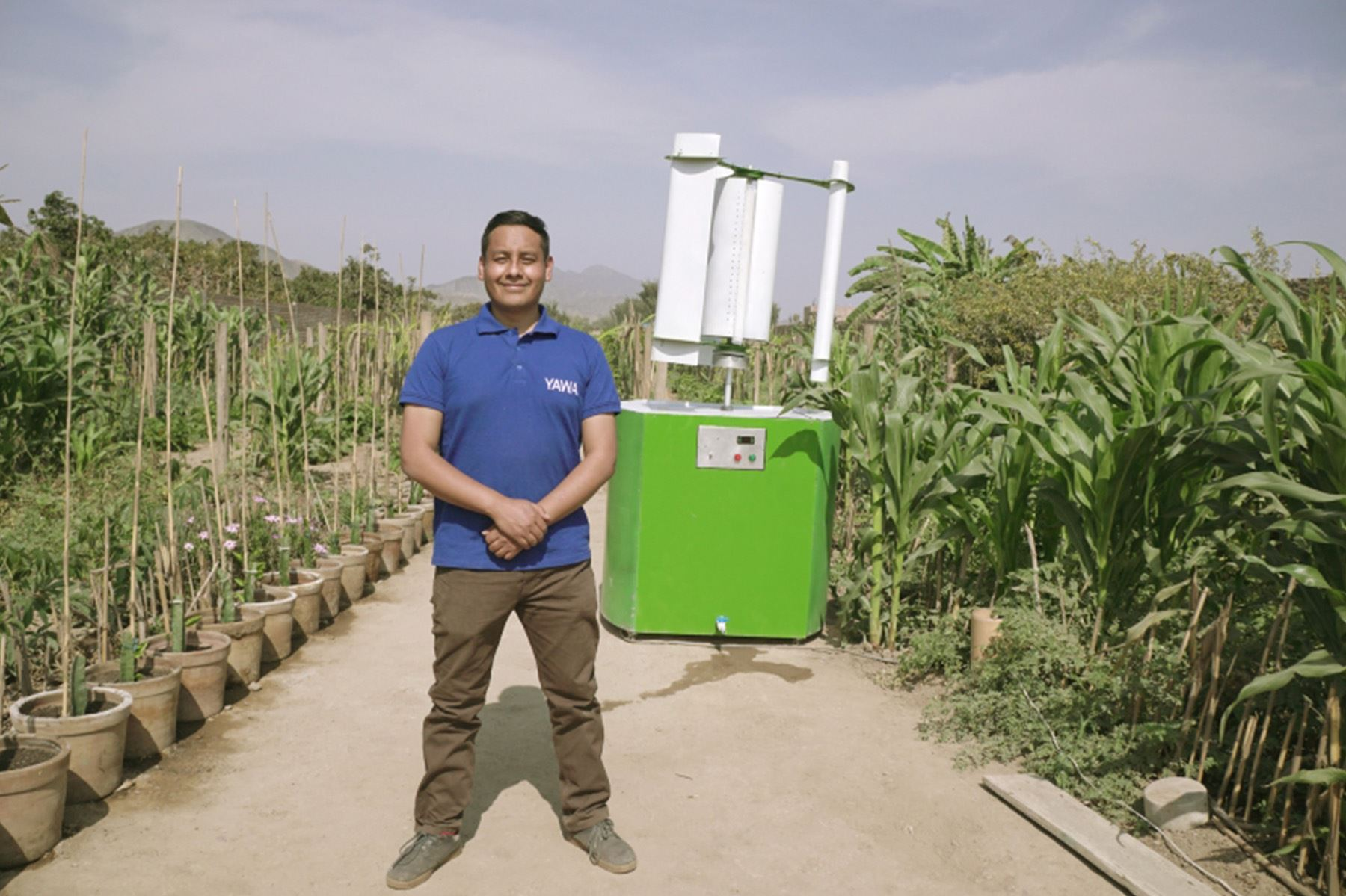 Por América Latina y el Caribe el ganador fue el peruano Max Hidalgo Quinto (30 años), fundador de Yawa, proyecto que busca generar agua potable mediante una tecnología sostenible. (Foto: UNEP)