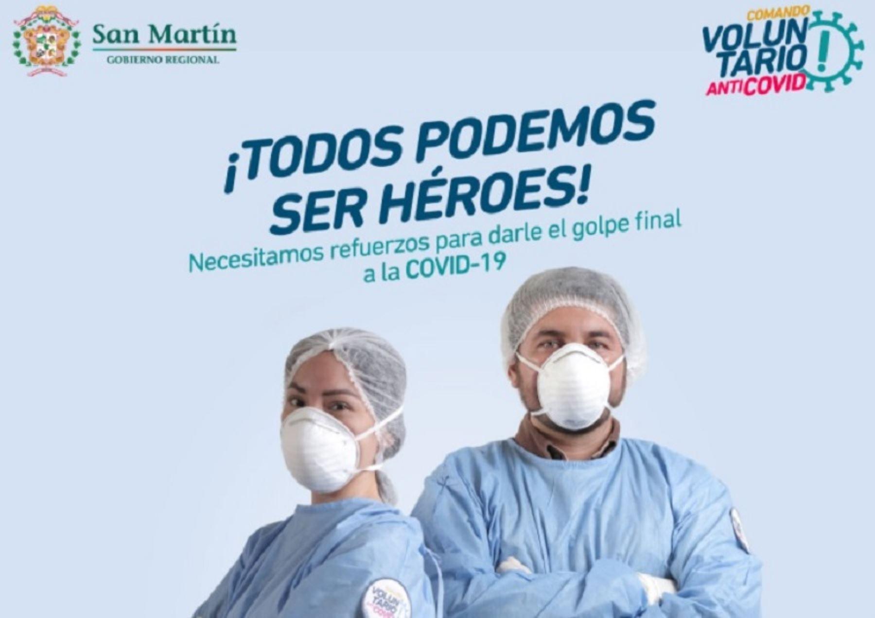 San Martín postula para ser una de las regiones en donde se desarrollen jornadas piloto de vacunación frente al covid-19 en el país. Foto: Gobierno Regional de San Martín.