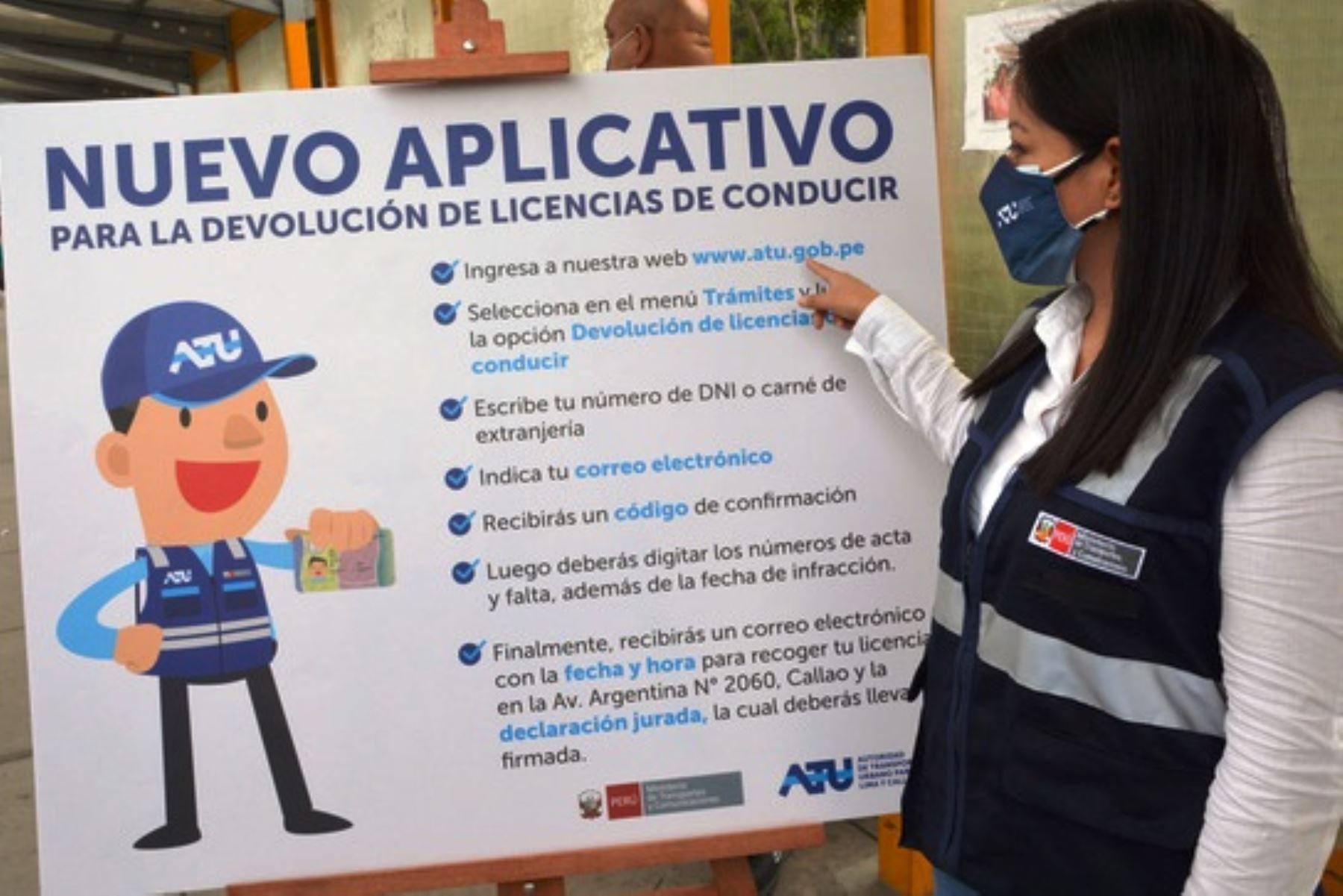 ¡Atención! Conductores podrán solicitar en línea la devolución de su brevete. Foto: ANDINA/Difusión.