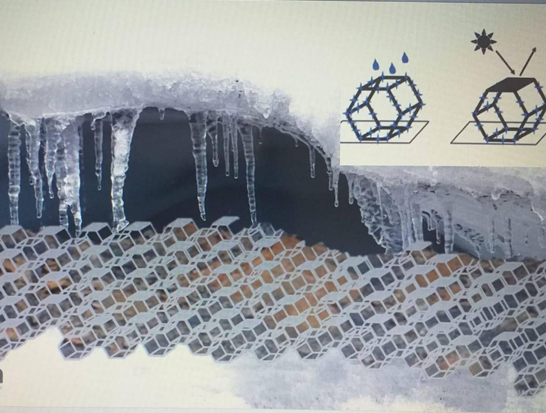 """El prototipo de este invento denominado: """"Geoestructura reflectante de nucleación de hielo glaciar""""."""
