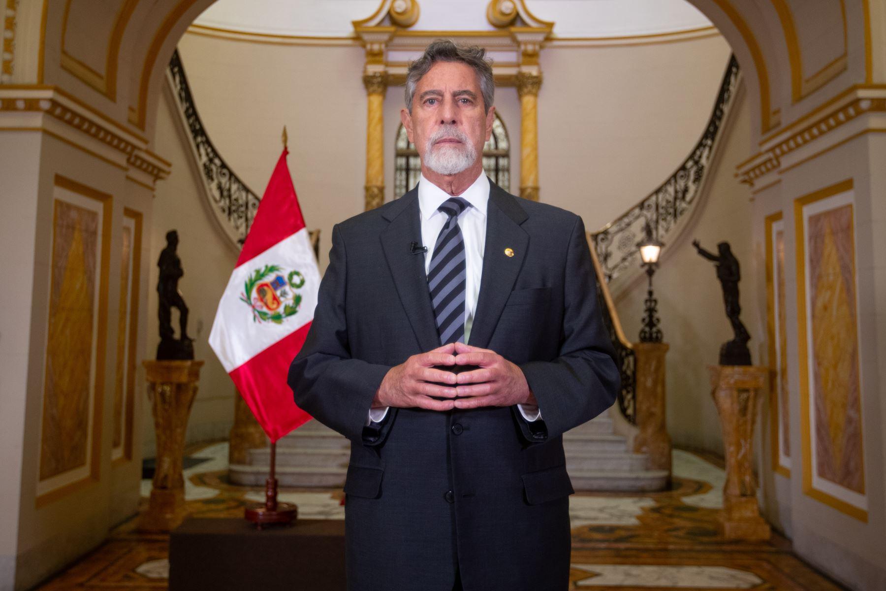Peruvian President Francisco Sagasti