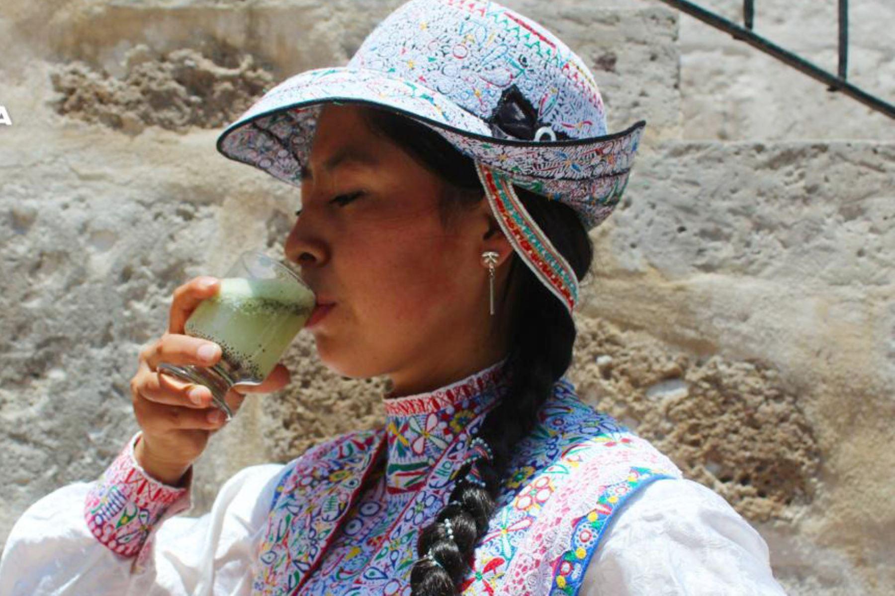 El colca sour es la bebida típica del valle del Colca, provincia de Caylloma, región Arequipa. Foto: ANDINA./Difusión