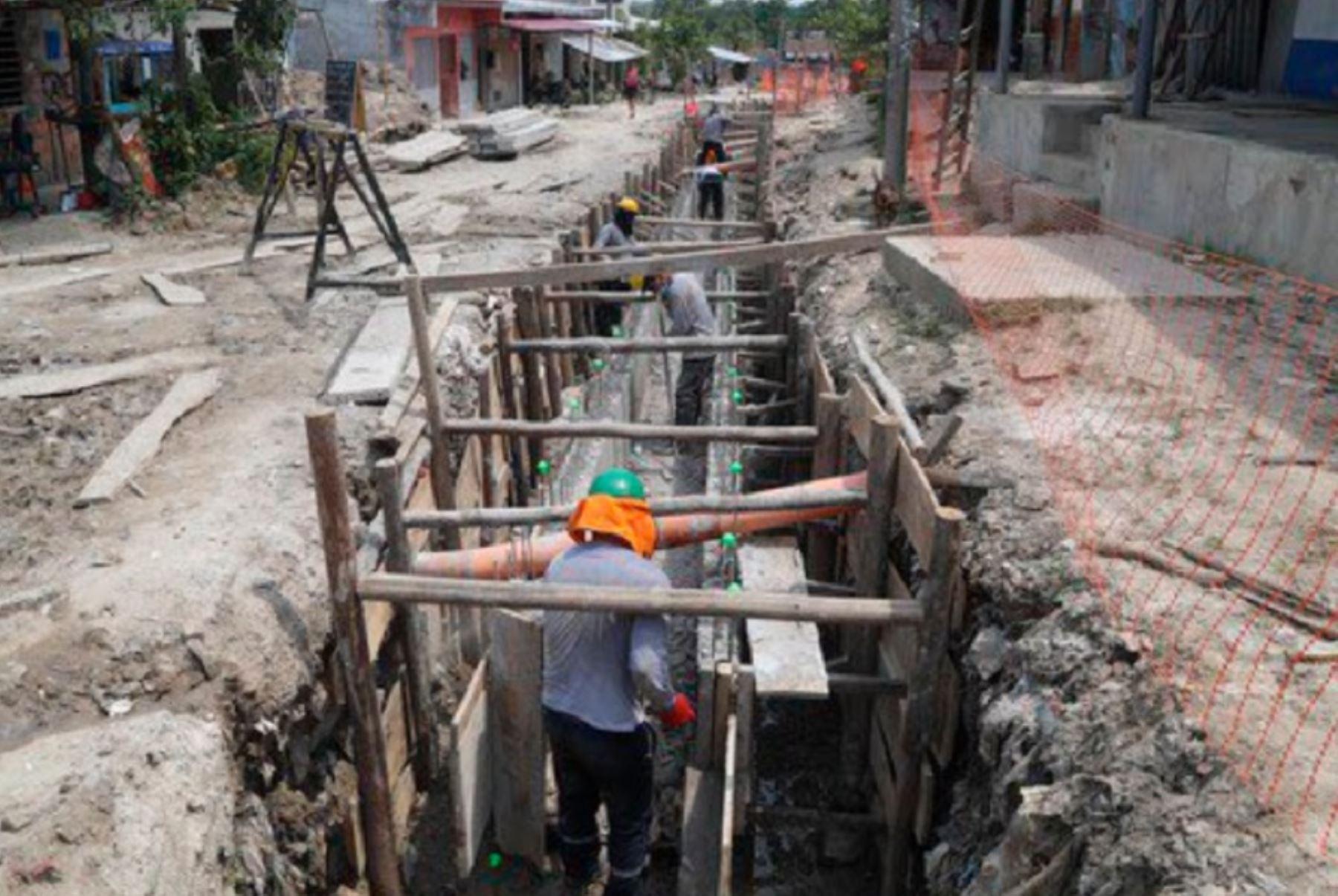 Ministerio de Vivienda reanudará en las próximas semanas las obras de agua potable y alcantarillado en el distrito de La Unión, en Piura. Foto: ANDINA/difusión.