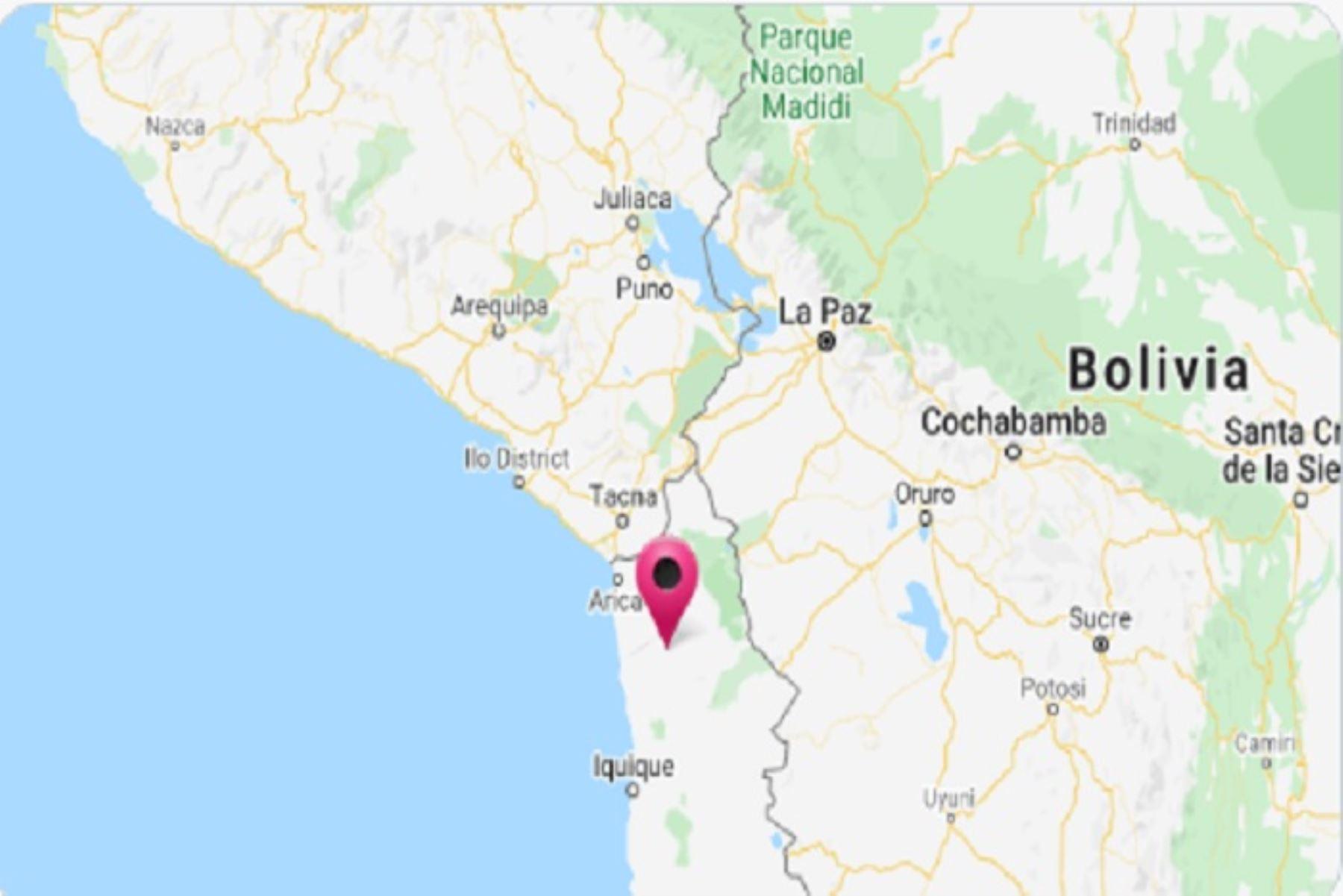 IGP: sismo de magnitud 4.6 remeció esta tarde Tacna