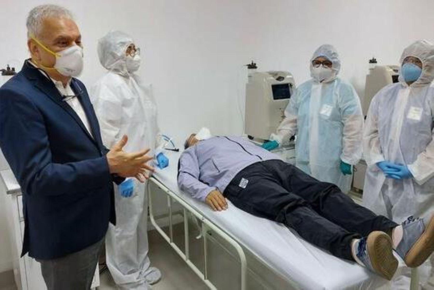 Coronavirus: inauguran primer Centro de Atención Temporal de Oxigenación en Ate. Foto: ANDINA/Difusión.
