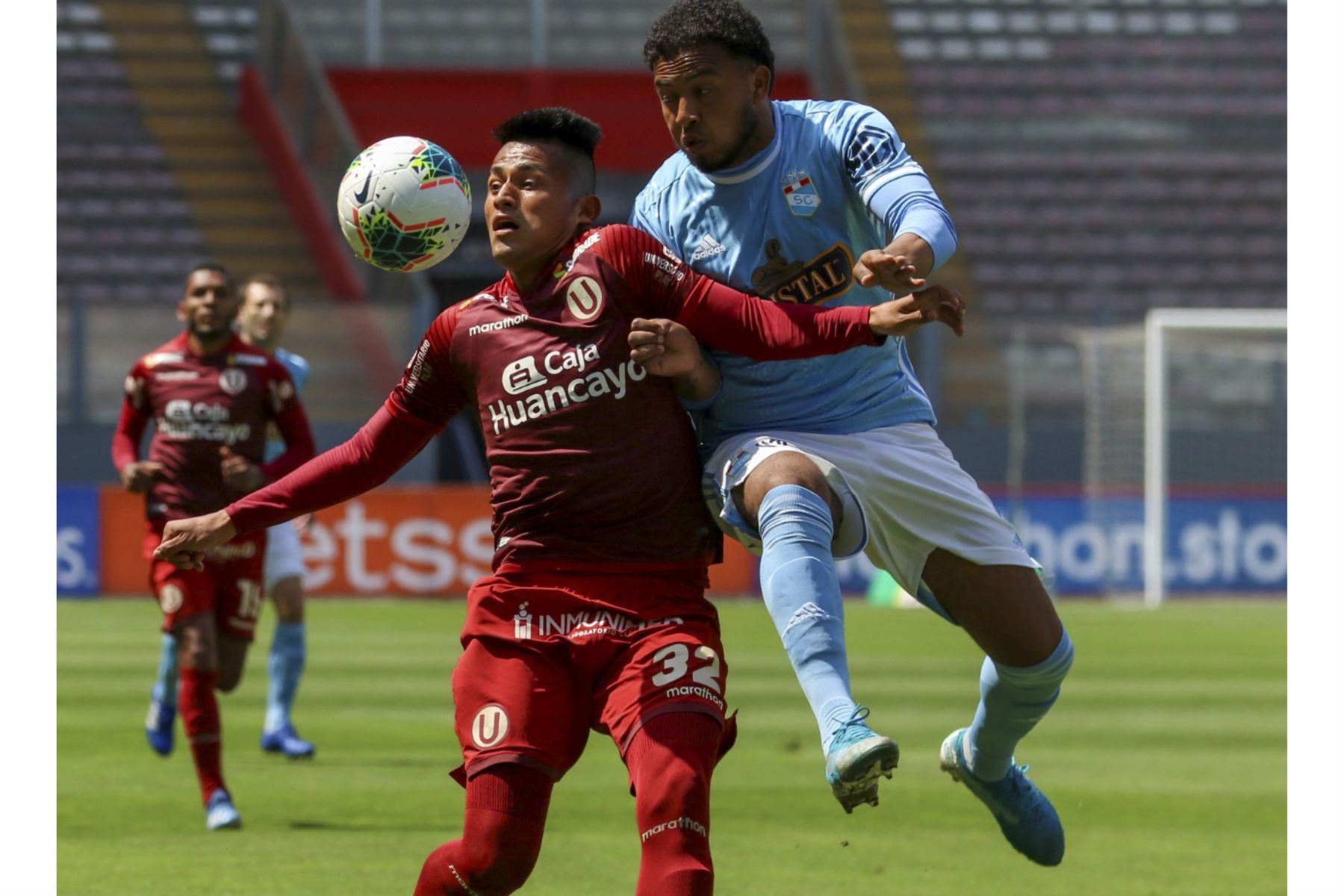 15/10/2020. Universitario y Sporting Cristal se enfrentan en el Estadio Nacional por la penúltima fecha del Torneo Apertura. Foto: Liga 1