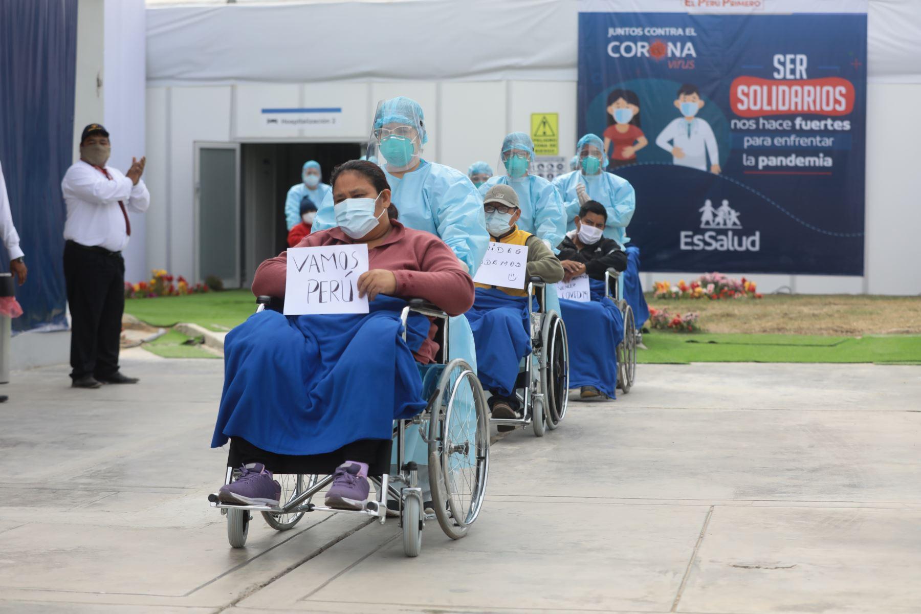 Perú se acerca al millón de recuperados del covid-19 en poco más de diez meses de emergencia sanitaria. ANDINA/Difusión