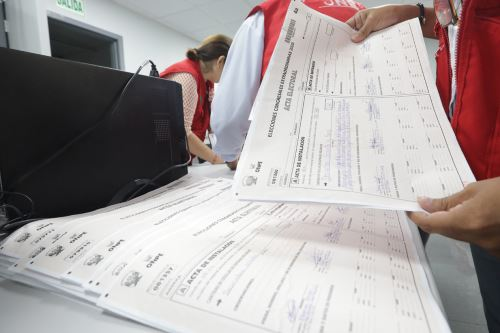 Actas electorales. Foto: ANDINA/difusión.