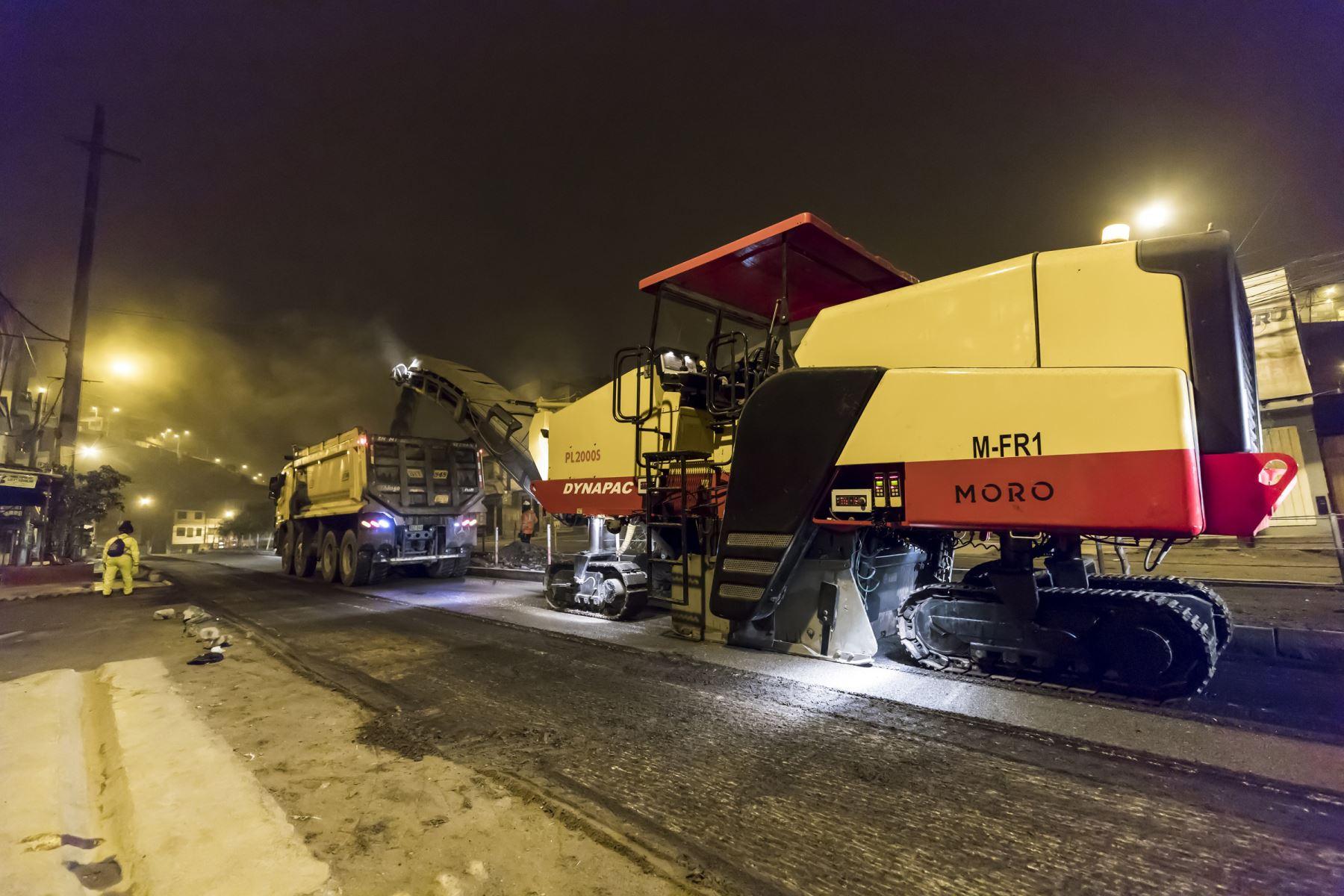 El municipio limeño llevó a cabo, entre agosto y diciembre último, el plan integral de mejoramiento vial 2020. ANDINA/Municipalidad de Lima