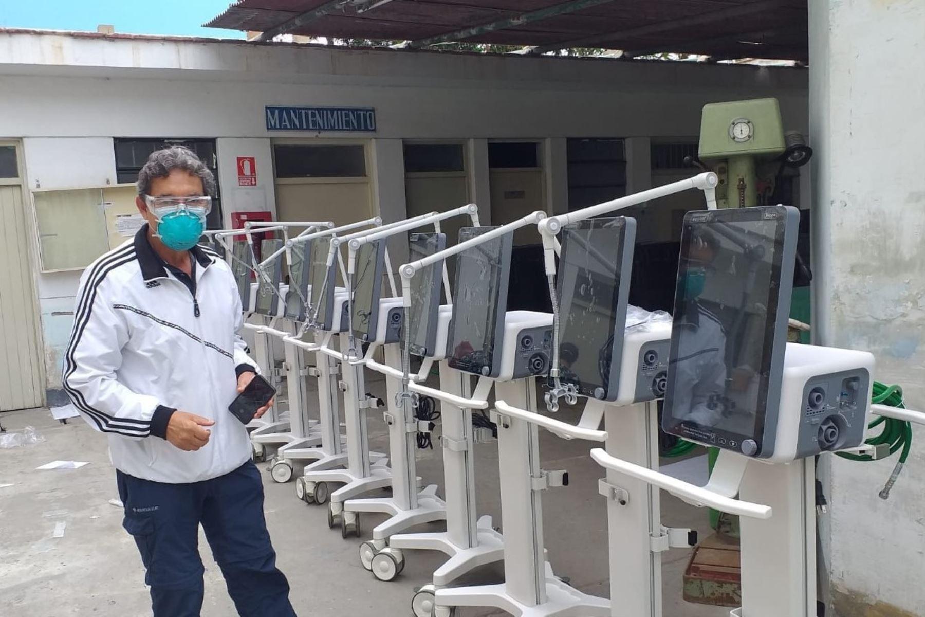 Ventiladores enviados por el Minsa para reforzar la atención a pacientes covid-19 en La Libertad. Foto: ANDINA/Difusión