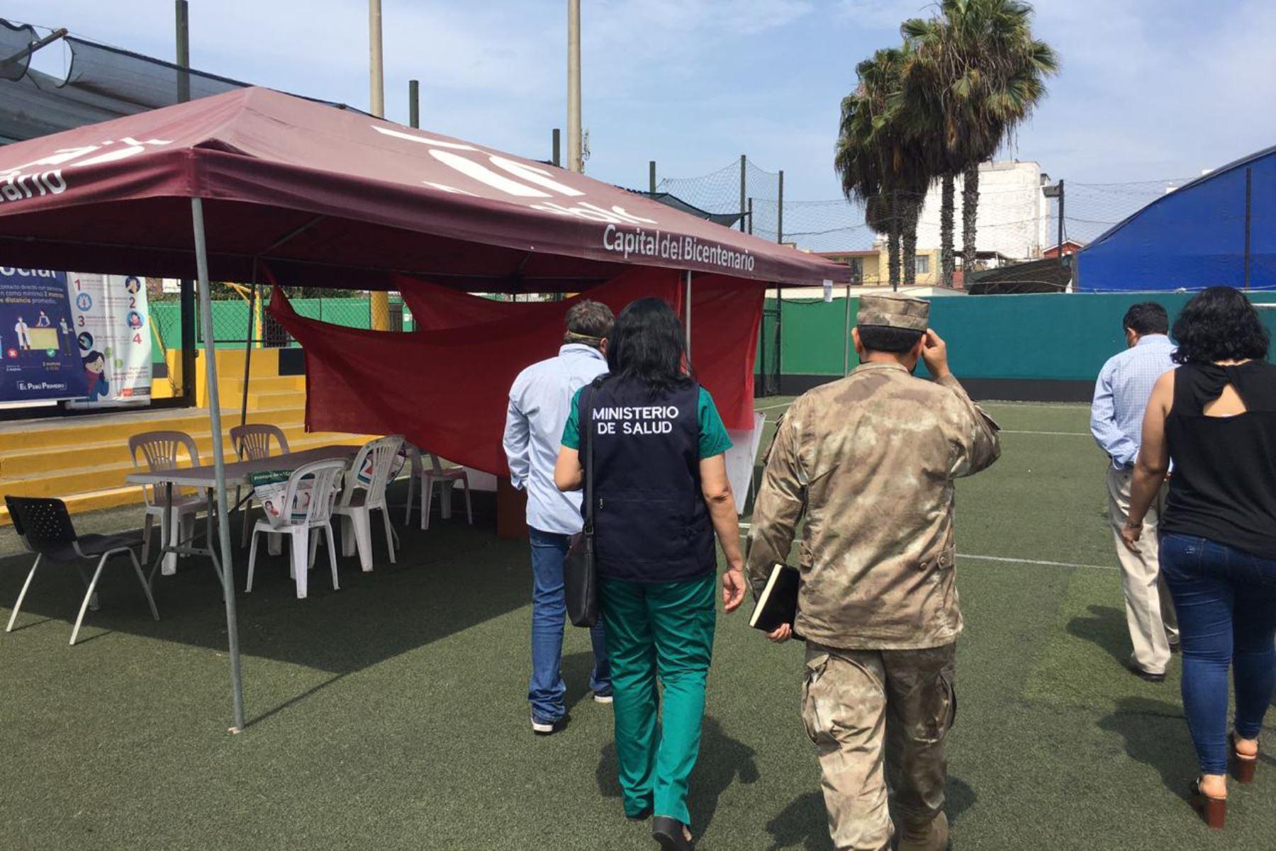 La Municipalidad de Pueblo Libre determinó que el Complejo Deportivo Torre Tagle, ubicado en la cuadra 2 de la calle José Ugarteche, sea designado como local para el Centro de Vacunación contra el Covid-19. ANDINA/Municipalidad de Pueblo Libre