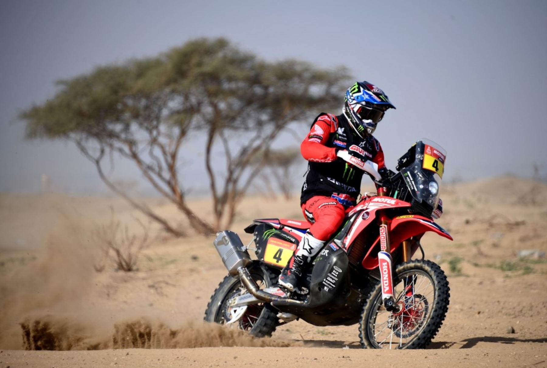 José Ignacio Cornejo (Honda) se impuso este lunes en la octava etapa de motos del Dakar 2021,