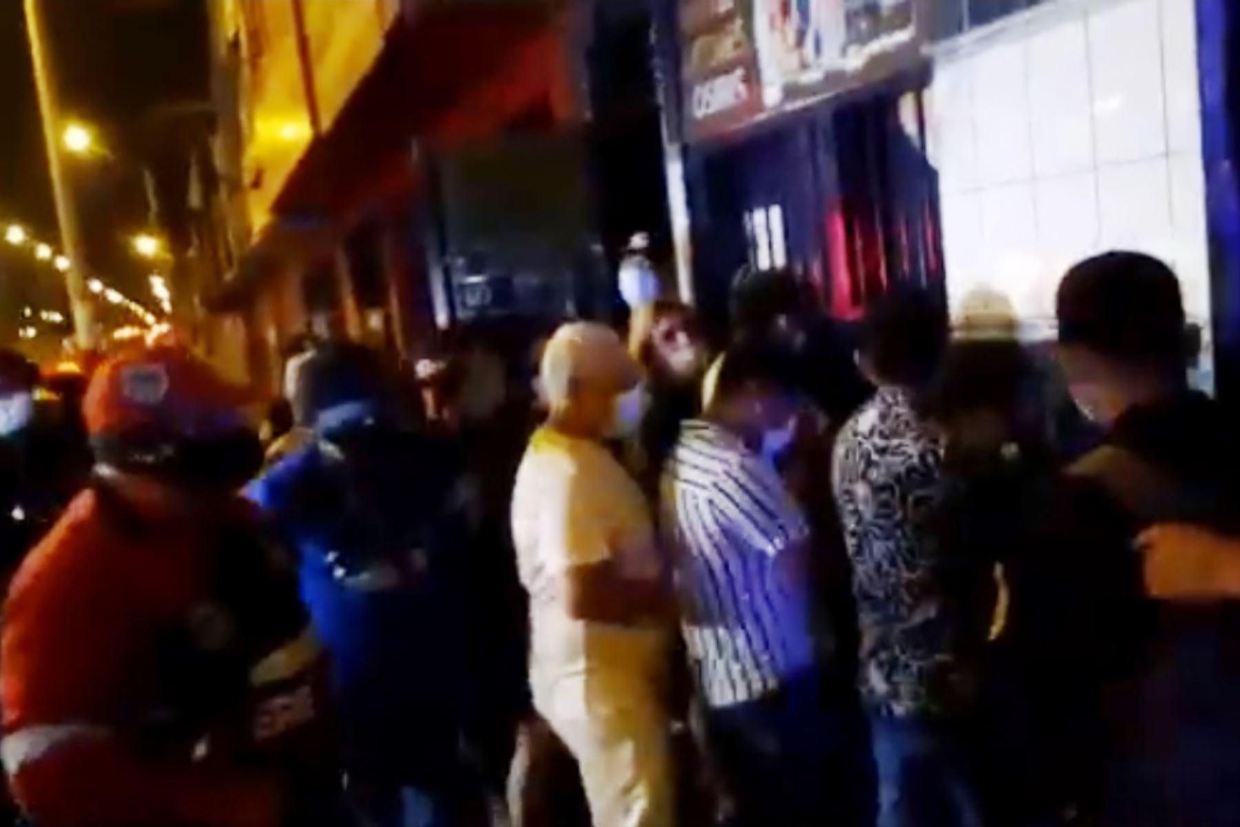 San Martin de Porres: Policía interviene a 150 personas en discoteca clandestina. Foto: ANDINA/capturaTV.