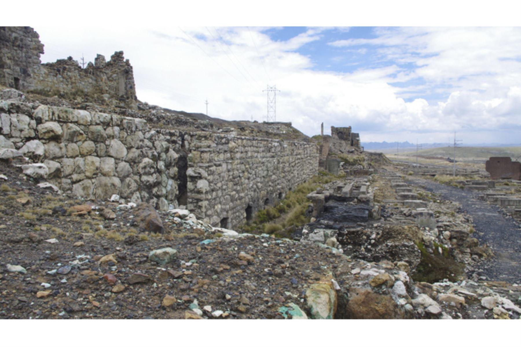 Ministerio de Cultura declara Patrimonio Cultural de la Nación a los vestigios de la Antigua Fundición Tinyahuarco en Pasco. Foto: Mincul