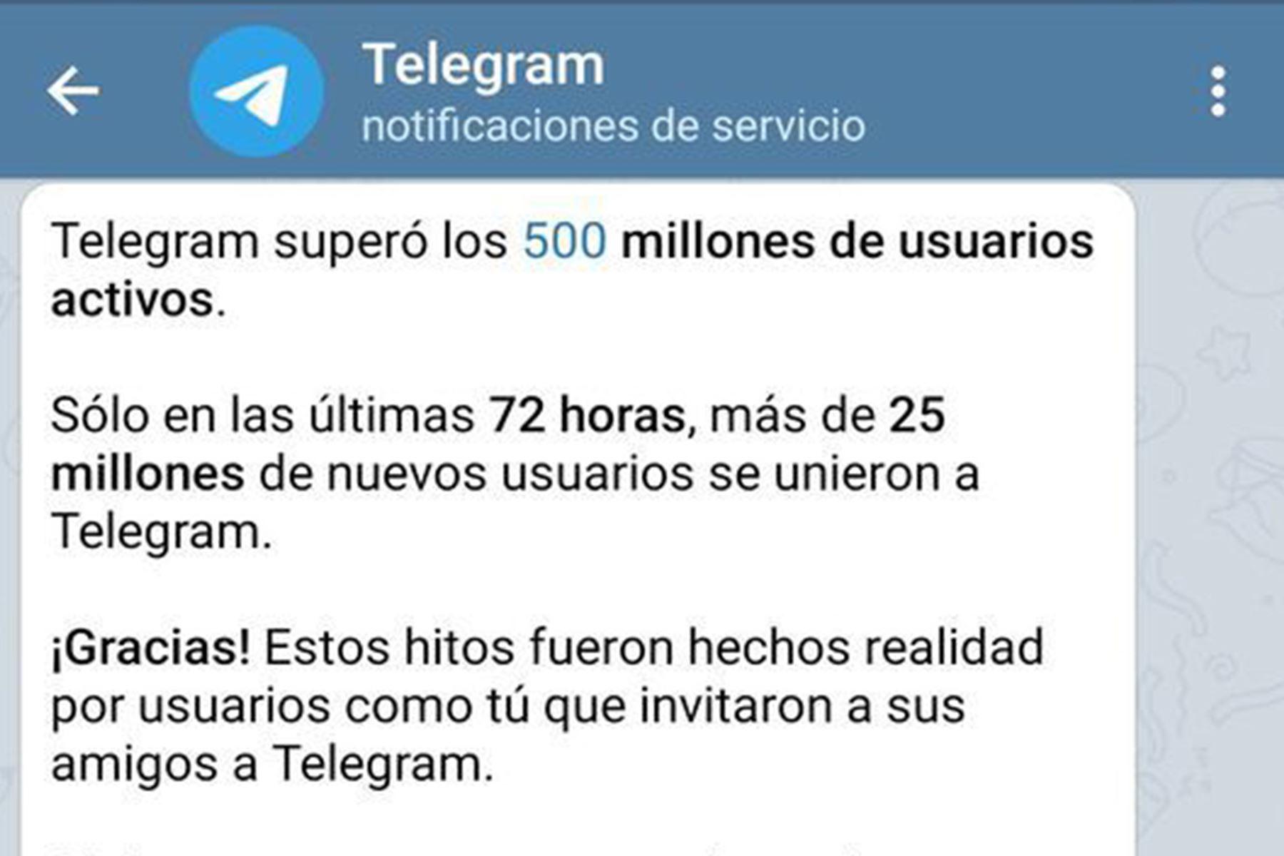 Telegram afirma batir récords de inscripciones tras nuevas reglas de WhatsApp (Foto: AFP)