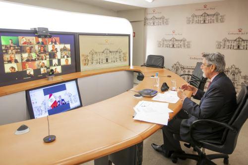 Presidente Francisco Sagasti recibió saludo virtual de los líderes religiosos del país