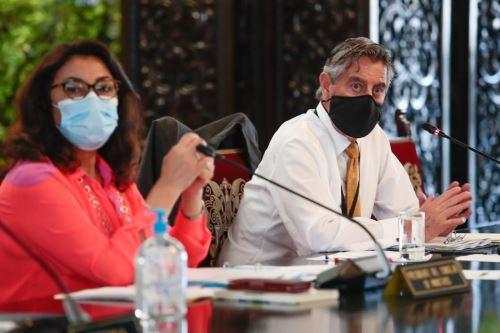 Sesión del Consejo de Ministros, en la que se coordinan acciones frente a la emergencia sanitaria