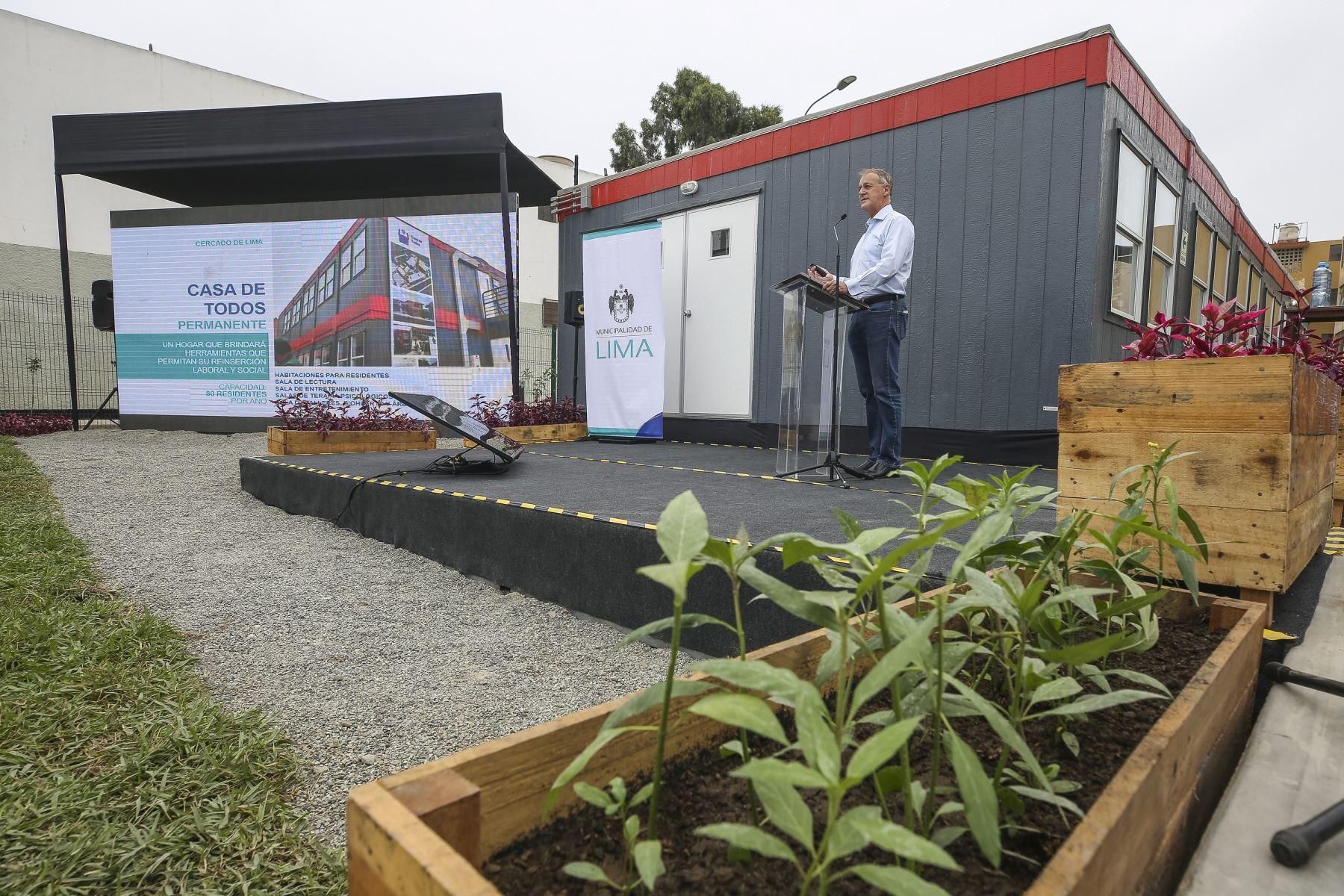 Alcalde Jorge Muñoz presenta Casa de Todos Permanente y ofrece balance de gestión 2019 - 2020. Foto: ANDINA/Municipalidad de Lima