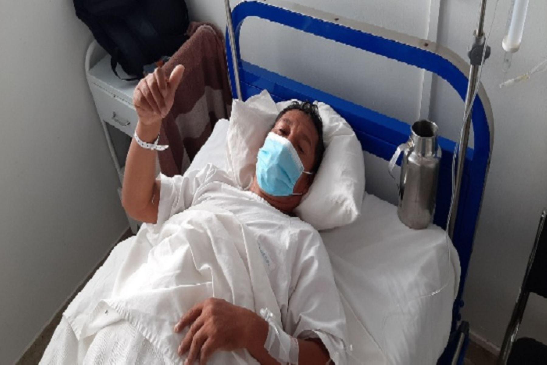 Don Ceberino Yupanqui fue dado de alta tras recuperarse de forma satisfactoria, previa evaluación por parte de los médicos cirujanos del hospital de Quillabamba
