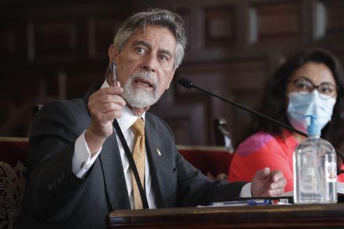 El presidente de la República, Francisco Sagasti, ofrece conferencia de prensa