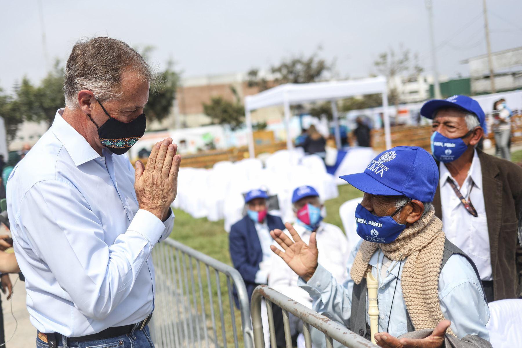 El alcalde de Lima, Jorge Miñoz, presentó las obras viales que entregará este 2021, y el balance de sus gestión 2020, por el 486 aniversario de Lima. ANDINA/Municipalidad de Lima