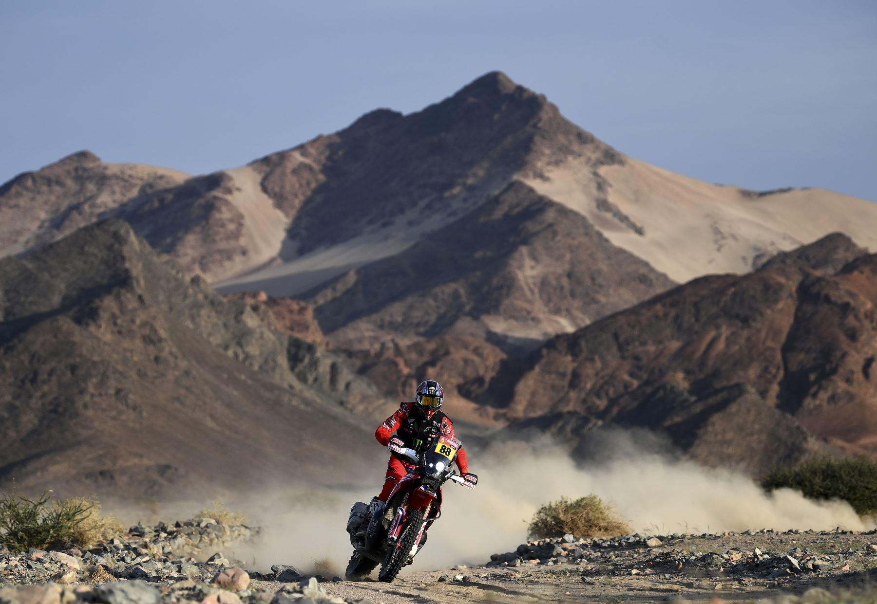 Las mejores imágenes de la etapa 11 del Dakar 2021. Foto: AFP