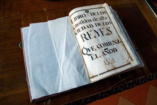 14/01/2021   El Acta de fundación de Lima: 486 años de historia Foto: Archivo Municipalidad de Lima