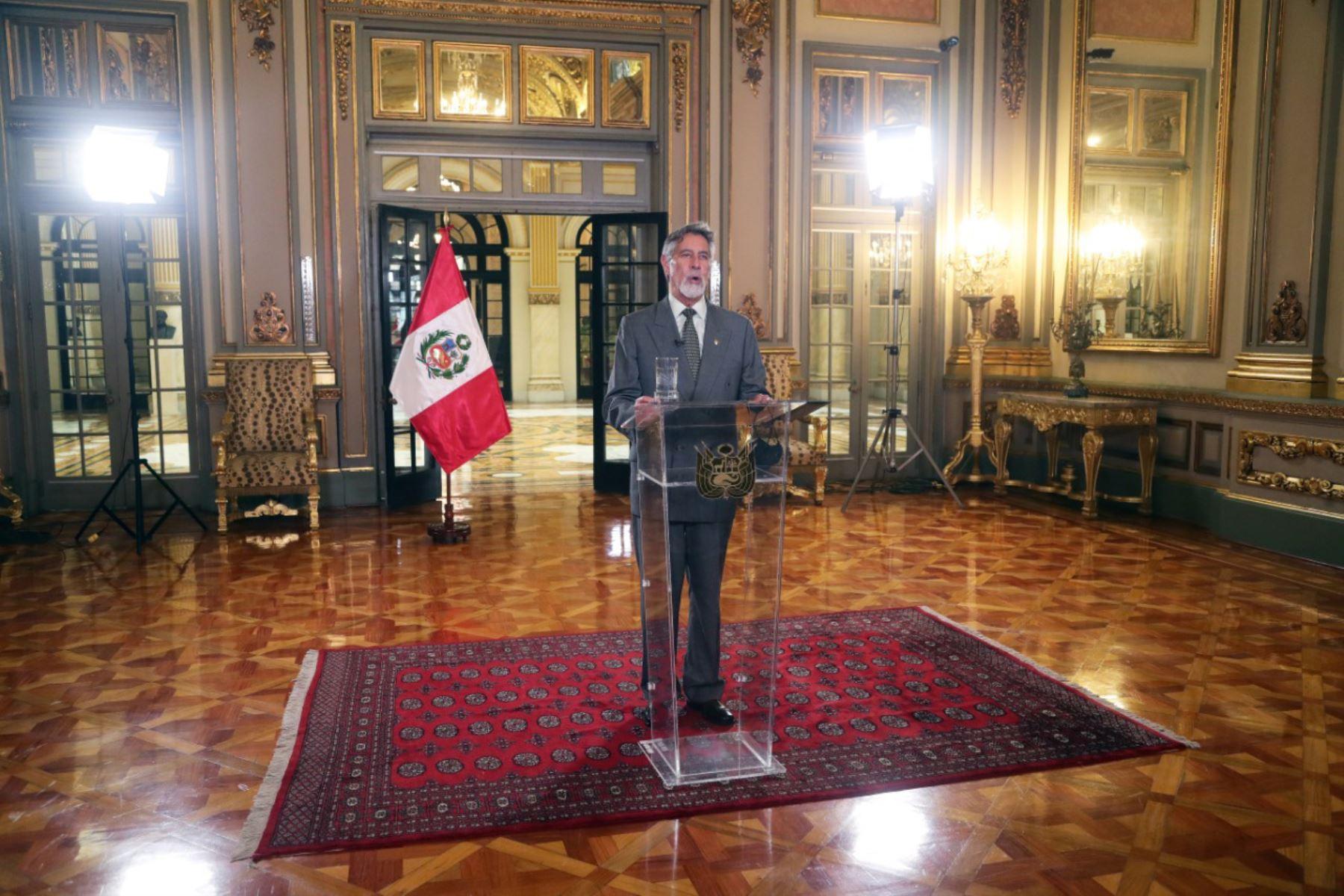 El Presidente de la República , Francisco Sagasti , participa en la Conferencia Anual de Ejecutivos CADE, espacio de reflexión y propuestas sobre temas prioritarios de la agenda nacional. Foto: ANDINA/Prensa Presidencia