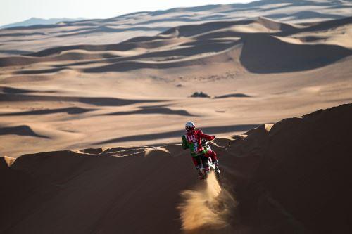 Pierre Cherpin, el piloto francés que falleció cuando transitaba por la última etapa en moto del Dakar.