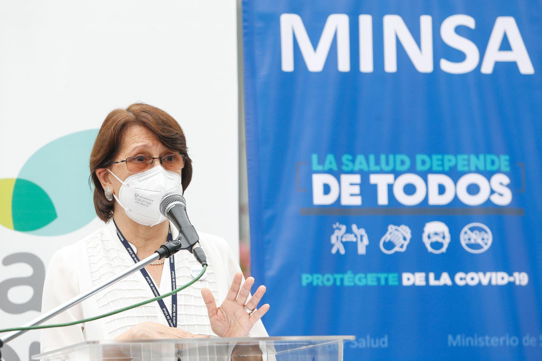 Ministra de Salud, Pilar Mazzetti Soler. ANDINA/Difusión