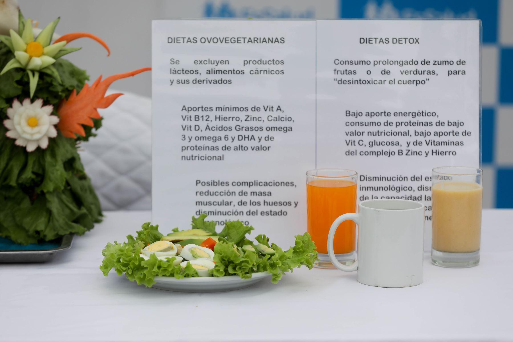Especialista de EsSalud recomienda ingerir dietas equilibradas que combinan una buena alimentación, con las porciones adecuadas, como consumir por lo menos la mitad del plato de verduras, las que decidan, de zanahoria y betarraga, por ejemplo. Foto: ANDINA/EsSalud.