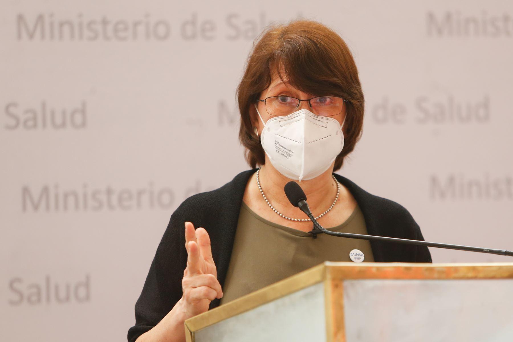 Los gobernadores regionales se reúnen hoy con la ministra de Salud, Pilar Mazzetti, para coordinar acciones frente a la segunda ola de contagios del covid-19. Foto: ANDINA/difusión.