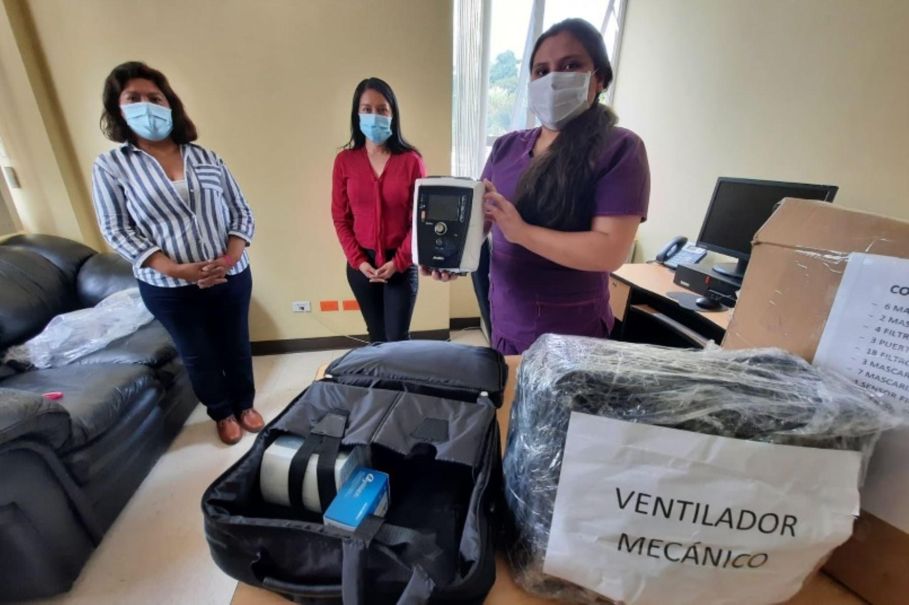 Con el objetivo de optimizar la atención de los pacientes covid-19, la Red Asistencial Apurímac de EsSalud recibió dos ventiladores mecánicos de transporte donados por una empresa minera en favor de los asegurados y no asegurados de la región.
