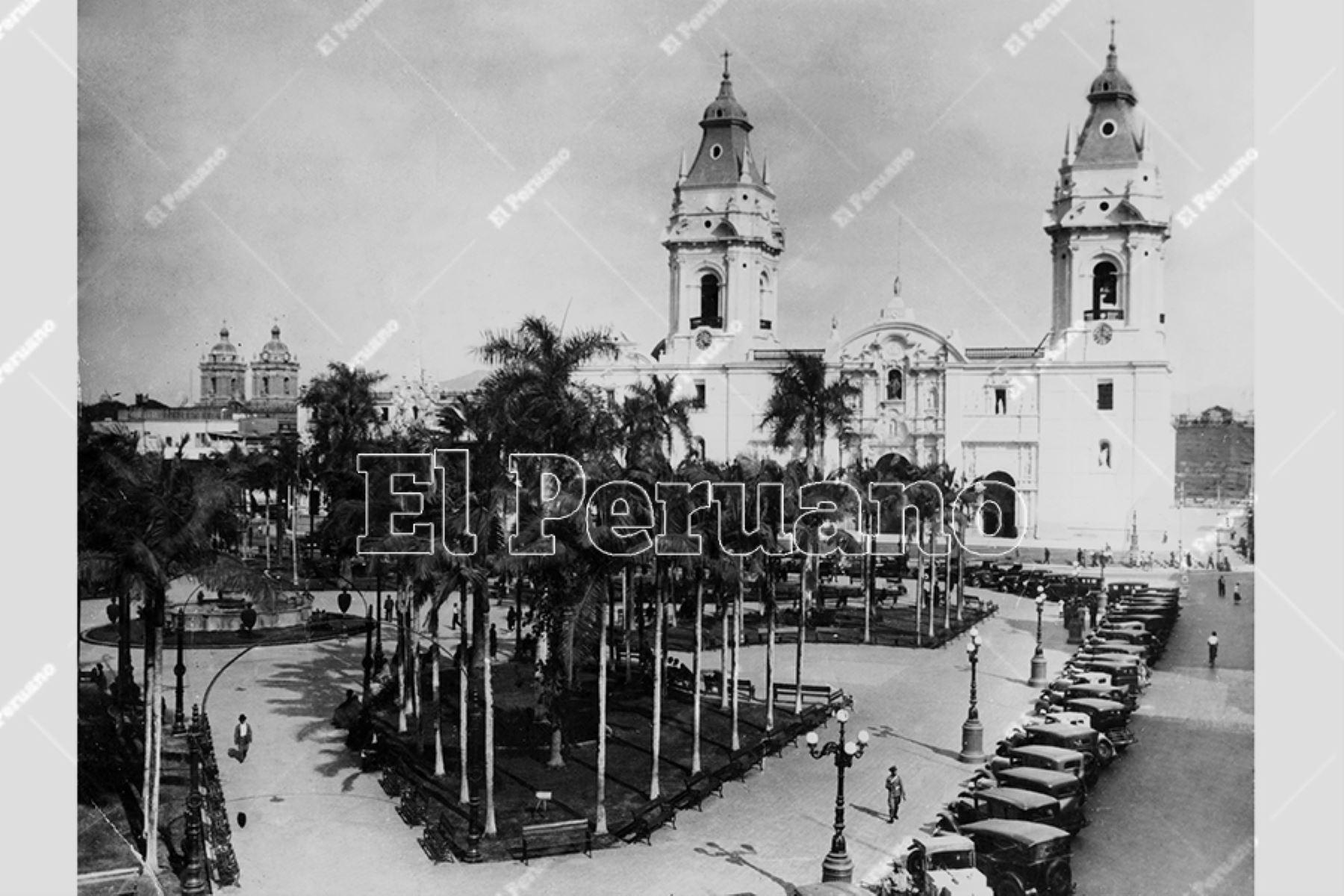 Plaza de Armas de Lima (1925). Foto: Archivo Histórico de El Peruano
