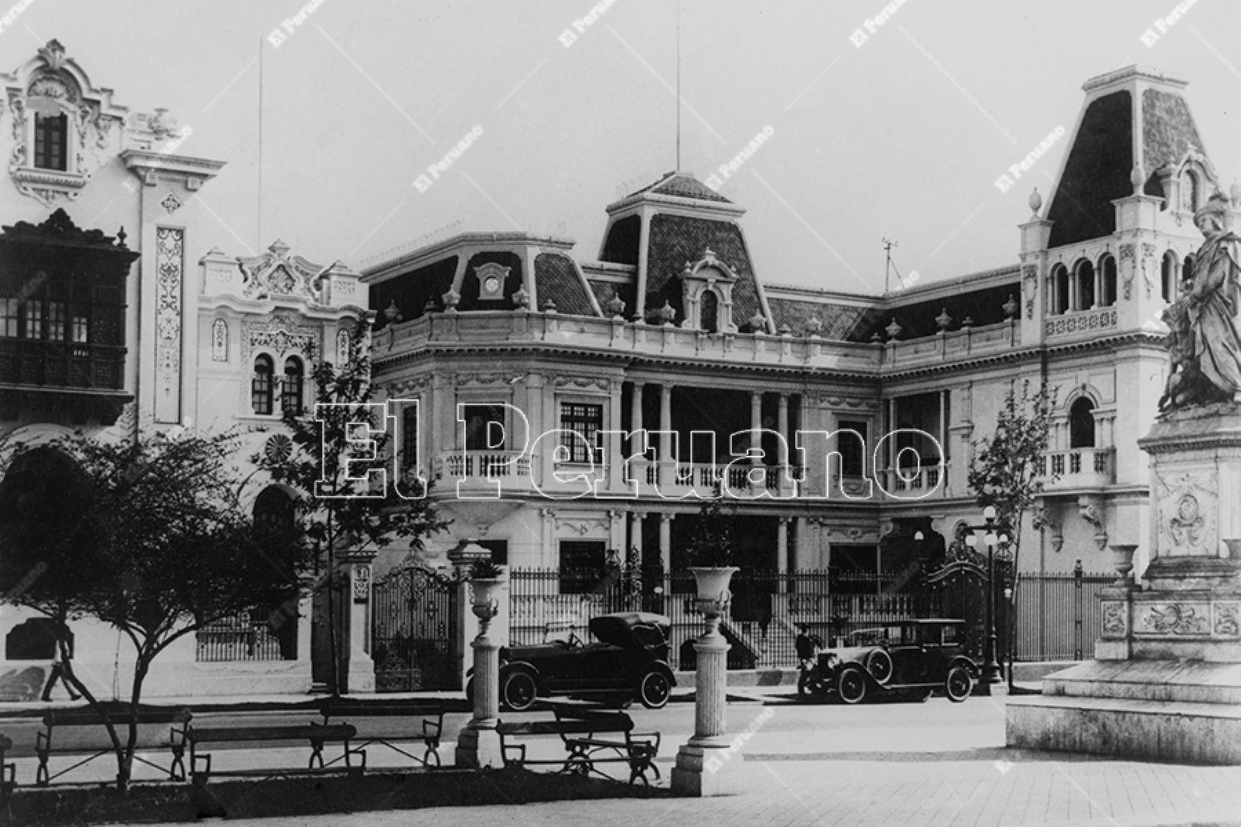 Lujosa residencia del Paseo Colón (1930). Foto: Archivo Histórico de El Peruano