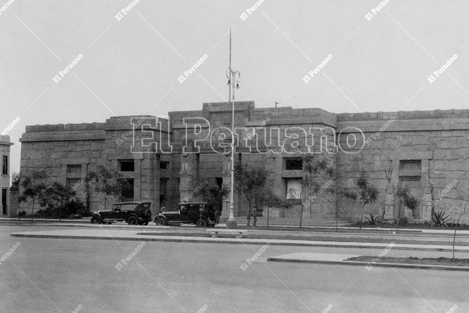 Antiguo Museo Arqueológico del Perú, hoy Museo de la Cultura Peruana, en la Avenida Alfonso Ugarte (1930). Foto: Archivo Histórico de El Peruano