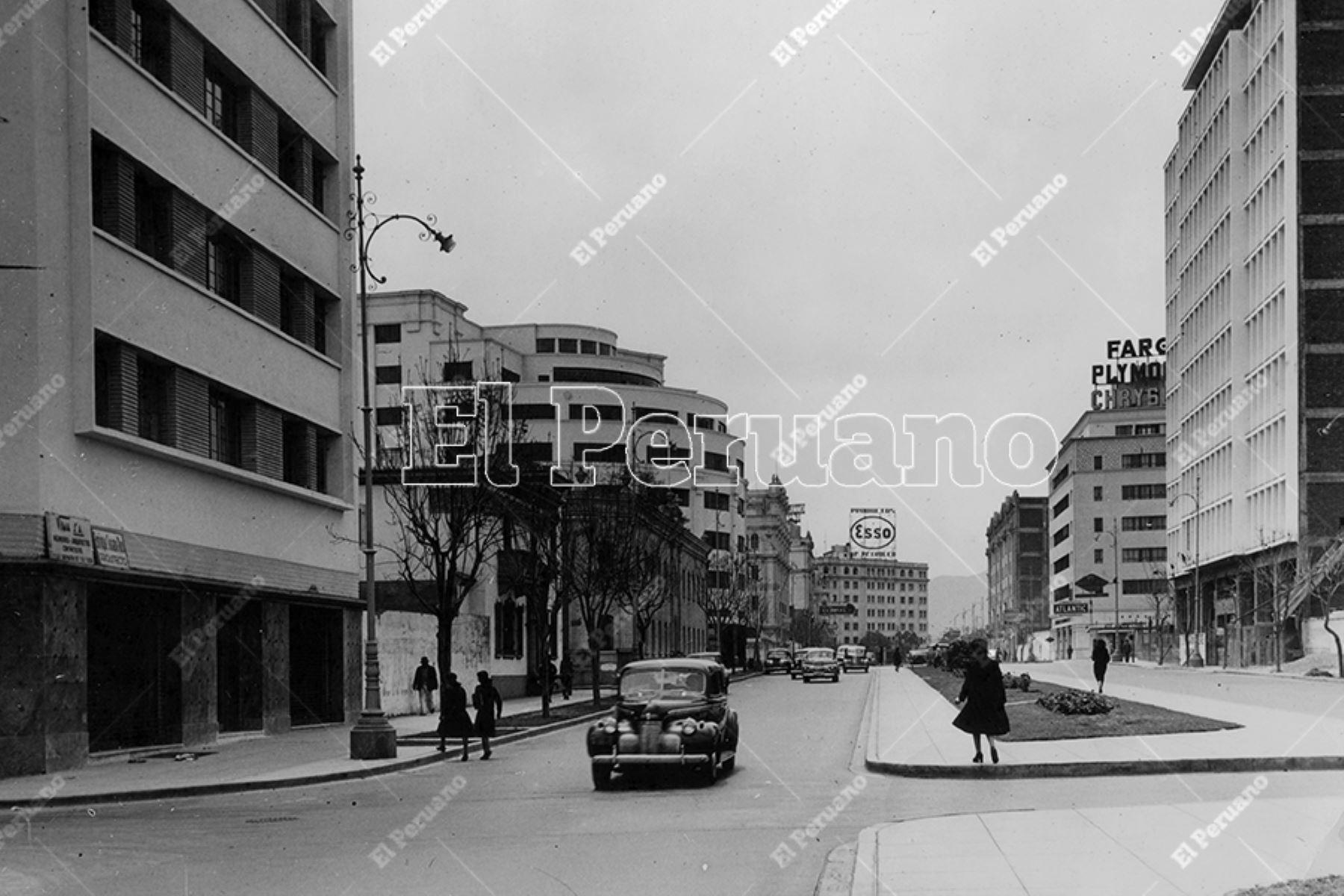 Avenida Wilson en el Centro de Lima (1948). Foto: Archivo Histórico de El Peruano
