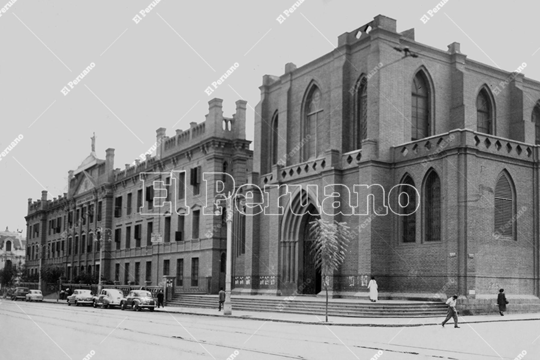 Antiguo Colegio de la Inmaculada, actual sede de la Universidad Federido Villarreal (1950). Foto: Archivo Histórico de El Peruano.