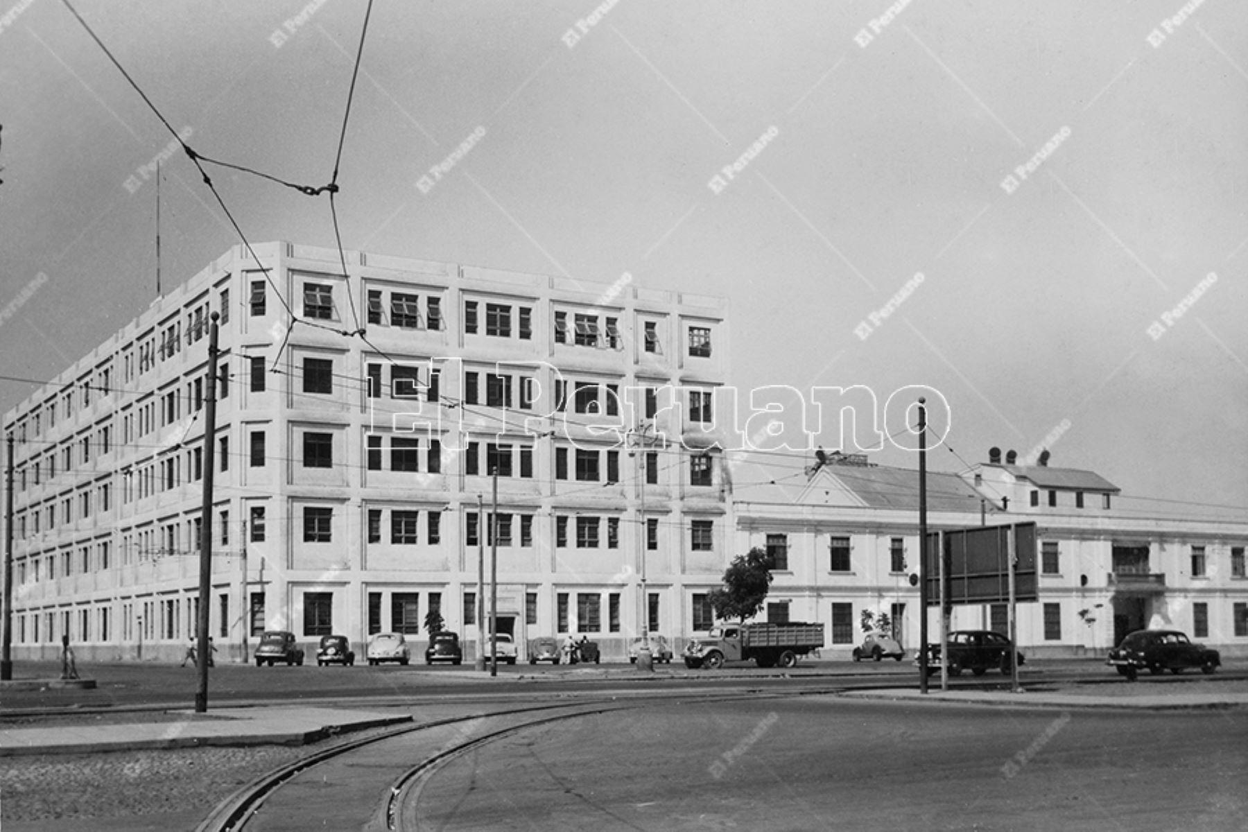 Antigua fábrica de fideos Nicolini (1952).  Foto: Archivo Histórico de El Peruano