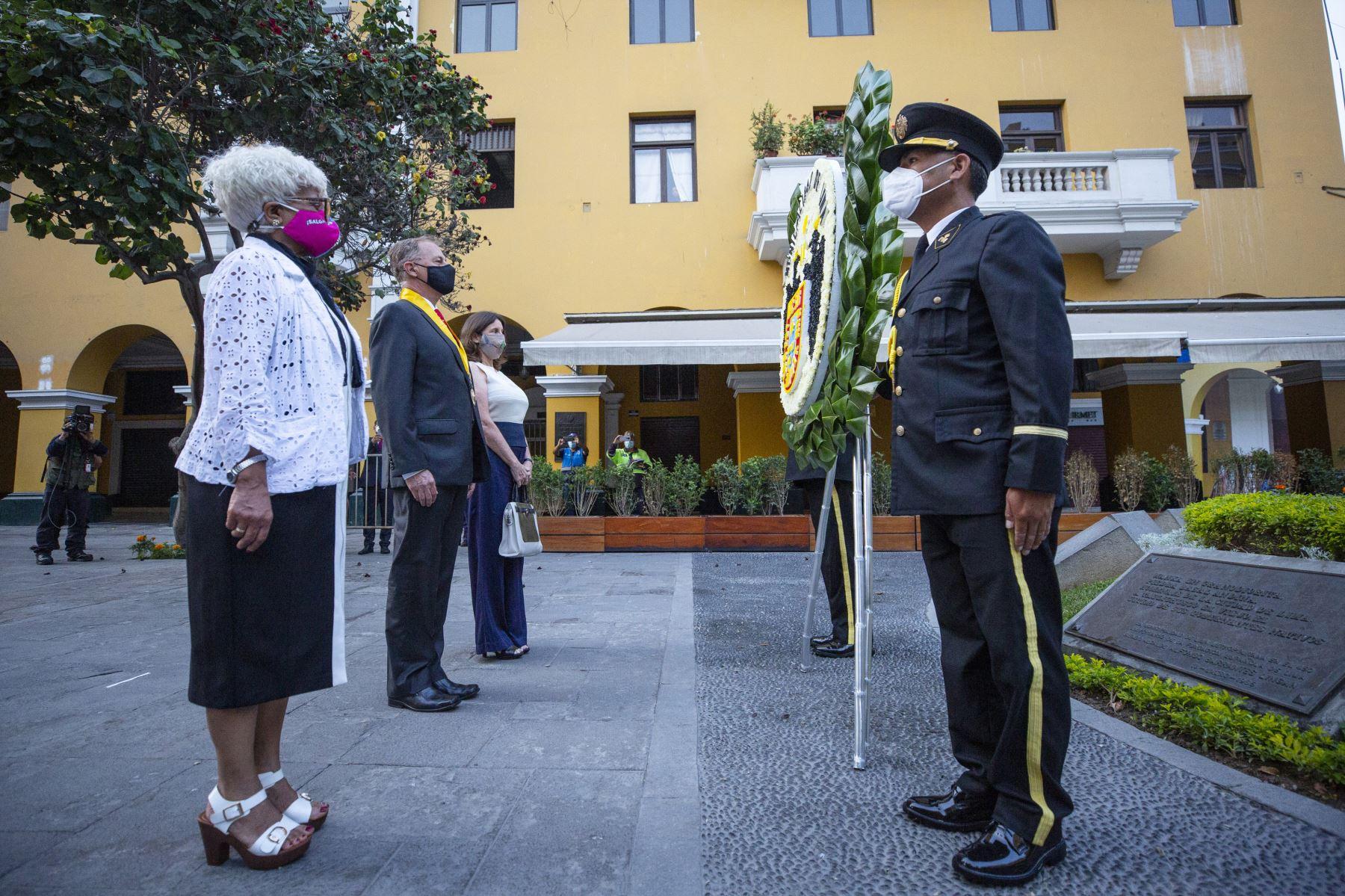 Se inician celebraciones por el 486 aniversario de Lima, Alcalde Jorge Muñoz encabezó ceremonia que incluyó homenaje al último cacique inca Taulichusco. Foto: ANDINA/Difusión