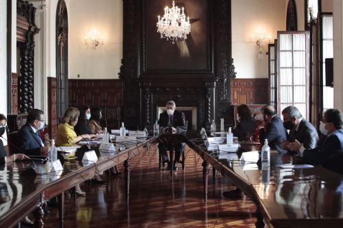 El presidente Francisco Sagasti lideró la sesión del Consejo de Estado