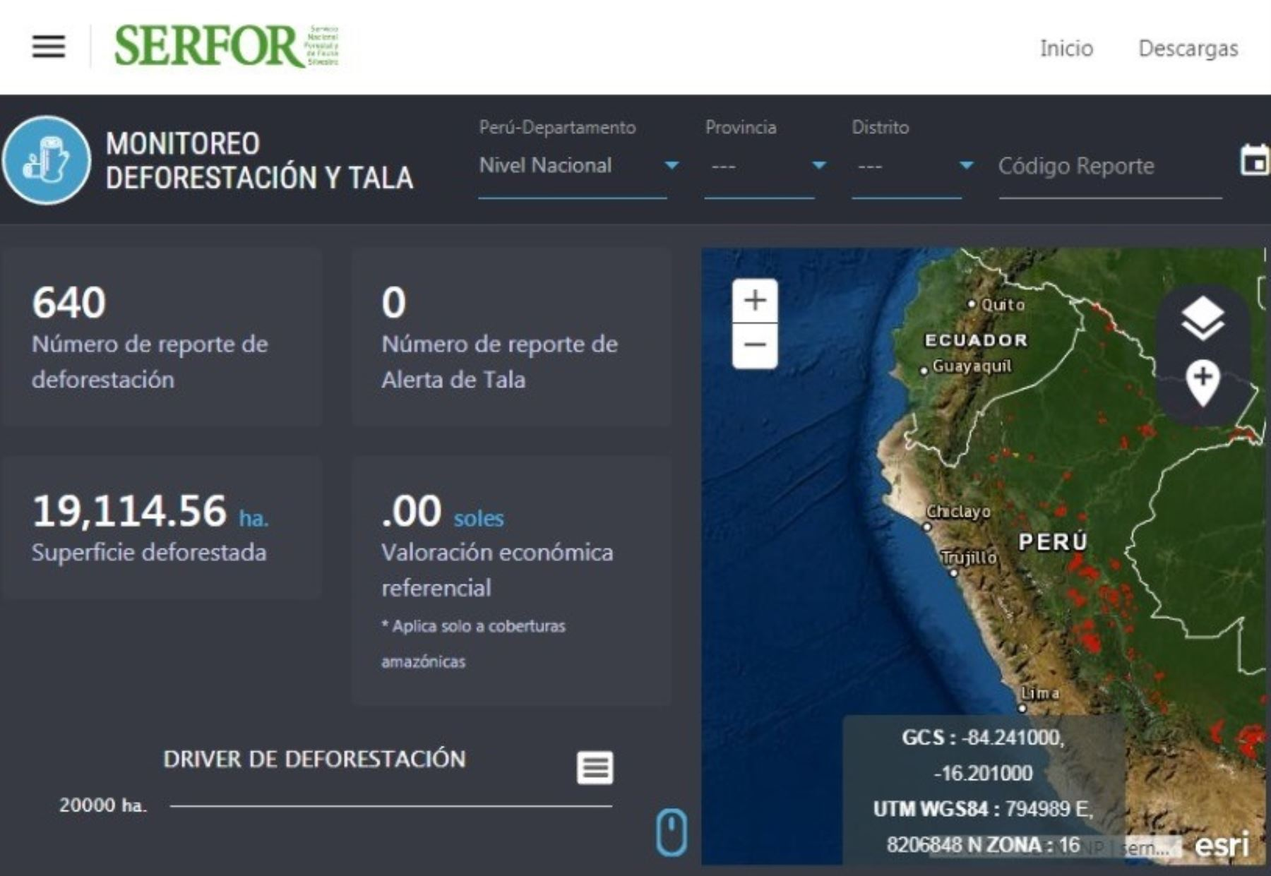 Con plataforma satelital Serfor puede detectar tala y deforestación de bosques; así como incendios forestales y otras afectaciones a los ecosistemas frágiles. ANDINA/Difusión