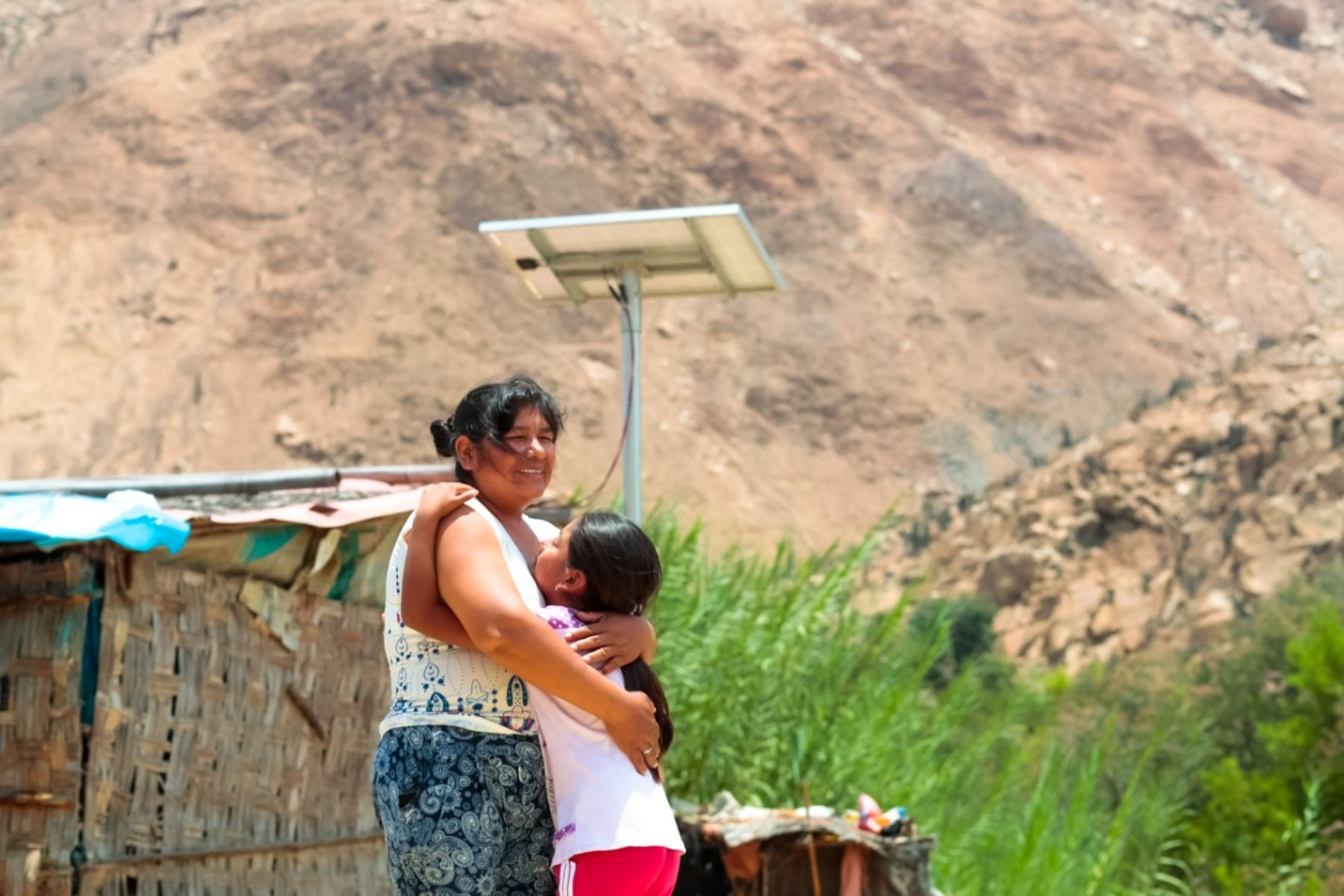 Panel Fotovoltaico permite generar energía eléctrica en las zonas rurales alejadas del país. Foto: Cortesía.