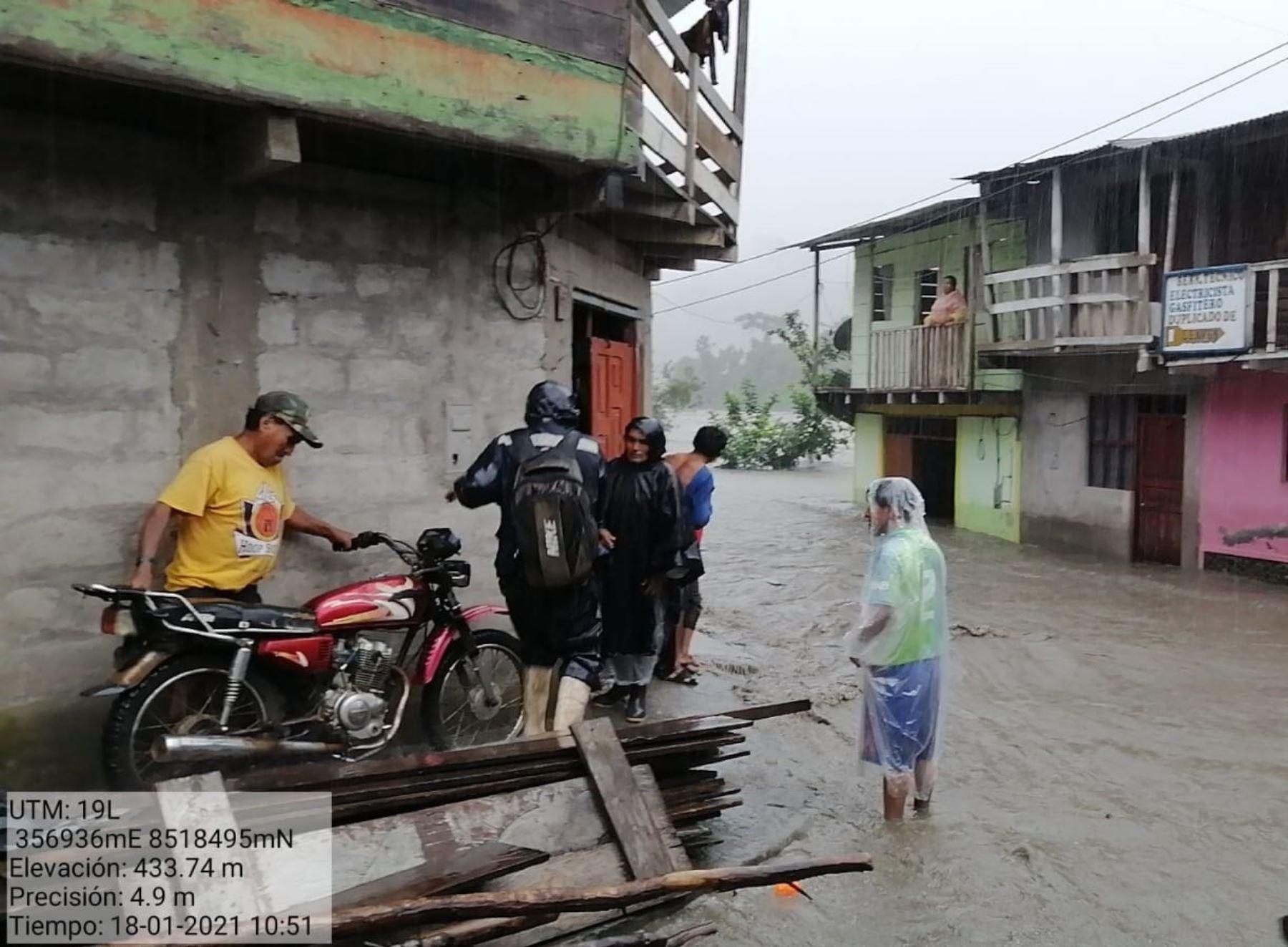 Lluvias intensas causan daños en decenas de viviendas en la provincia de Carabaya, región Puno, informó el Indeci. Foto: ANDINA/difusión.