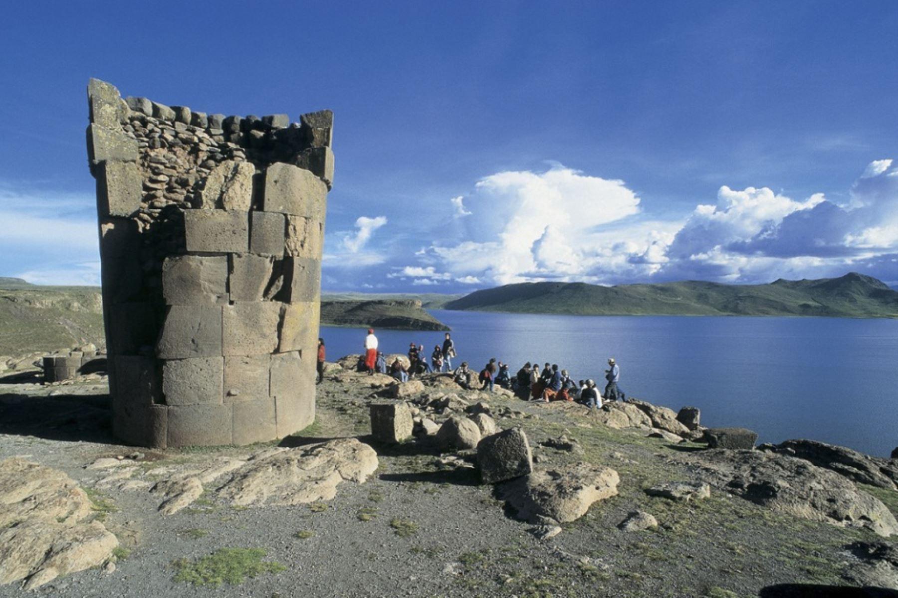 Complejo arqueológico de Sillustani, patrimonio cultural emblemático de la región Puno. ANDINA/archivo